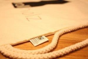 Rollholz Bio-Baumwollbeutel nachhaltiger Sport